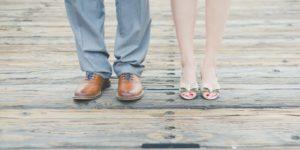 Beziehungsprobleme - Paar in Fußansicht