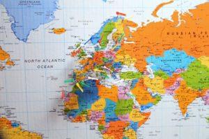 Fernbeziehung - Landkarte von Europa