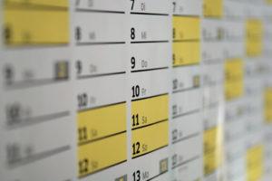 Wochenendbeziehung - Kalender